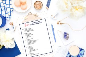 What to Bring to a Blogging Conference - Free Printable Packing List for Conferences from Thrive Creative Events! download it at thrivecreativeevents.com